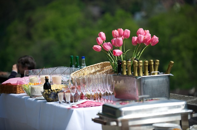 Outdoor catering event